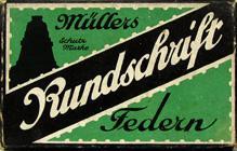 Antike Schreibfederschachtel, Hermann Müller, No. 5, Rundschrift-Feder