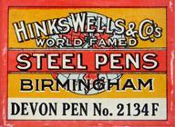 Antike Schreibfederschachtel, Hinks, Wells & Co, No. 2134 F, Devon Pen
