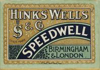 Antike Schreibfederschachtel, Hinks, Wells & Co, No. 431 S.S., Speedwell Pen