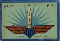 Antike Schachtel mit Zeichenfedern, Impero, No. 025 E.F.
