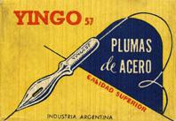 Antike Schreibfederschachtel, Industria Argentina, No. 57, Yingo