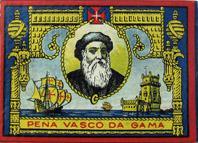 Antike Schreibfederschachtel, Industria Portugueza, Penna Vasco Da Gama EF