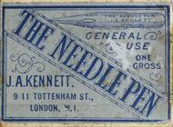 Antike Schreibfederschachtel, J. A. Kennett, The Needle Pen