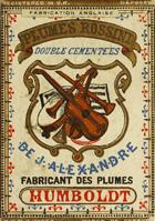 Antike Schreibfederschachtel, Perry & Co, J. Alexandre, Plume Rossini, M