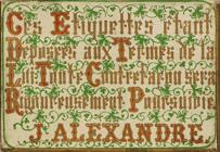 Antike Schreibfederschachtel, Perry & Co, J. Alexandre, Plume Rossini, M, Rückseite