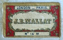 Antike Schreibfederschachtel, J. B. Mallat, No. 14 M