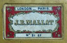 Antike Schachtel mit Kalligraphie Spitzfedern, J. B. Mallat, No. 21 EF, Plume Classique