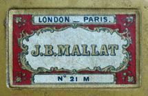 Antike Schreibfederschachtel, J. B. Mallat, No. 21 M, Plume Classique