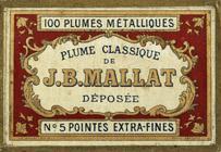 Antike Schreibfederschachtel, J. B. Mallat, No. 5 EF, Plume Classique