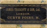Antike Schreibfederschachtel, James Truscott & Son Ltd., Curve Point M