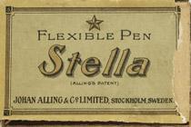 Antike Schreibfederschachtel, Johan Alling & Co, No. 15, Stella, Flexible Pen