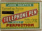 Antike Schreibfederschachtel, John Heath, Telephone Pen No 0278 F