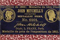 Antike Schreibfederschachtel, John Mitchell, No. 0101 F