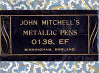 Schachtel mit Kalligraphie Spitzfedern, John Mitchell, No. 0138 EF