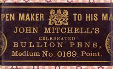 Antike Schreibfederschachtel, John Mitchell, No. 0169 M