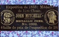 Antike Schreibfederschachtel, John Mitchell, No. 0232, Broad