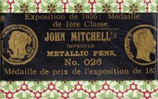 Antike Schachtel mit Kalligraphie Spitzfedern, John Mitchell, No. 026 EF