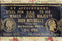 Antike Schreibfederschachtel, John Mitchell, No. 075, Improved