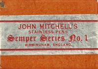 Antike Schreibfederschachtel, John Mitchell, No. 1, Semper Series
