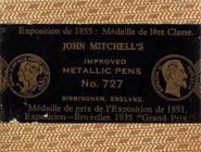 Antike Schreibfederschachtel, John Mitchell, No. 727