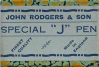 Schachtel mit Kalligraphie Bandzugfedern, John Rodgers & Son, Special J-Pen