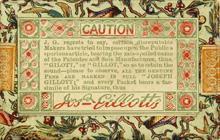 Antike Schreibfederschachtel, Joseph Gillott, No. 1010 B, Diamond Stub, Rückseite