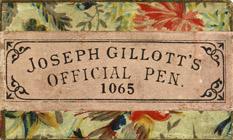 Antike Schreibfederschachtel, Joseph Gillott, No. 1065, Official Pen