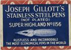 Antike Schreibfederschachtel, Joseph Gillott, Super Highland 1156