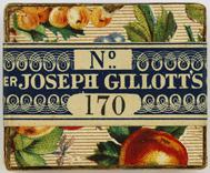 Antike Schreibfederschachtel, Joseph Gillott & Sons Ltd, No. 170, Warranted