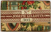 Antike Schreibfederschachtel, Joseph Gillott, No. 303 Extra Fine