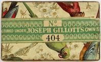 Schachtel mit Kalligraphie Spitzfedern, Joseph Gillott, No. 404 F