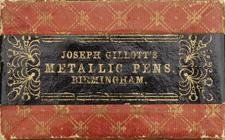 Antike Schreibfederschachtel, Joseph Gillott, No. 725 EF, Universal C
