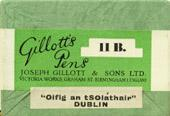 Antike Schreibfedernschachtel, Joseph Gillott & Sons Ltd, No. 11 B, Hollow Point Pen