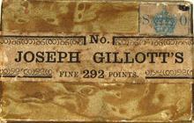 Antike Schreibfederschachtel, Joseph Gillott & Sons Ltd., No. 292 F, Public Pen