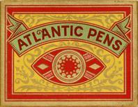 Schachtel mit Kalligraphie Bandzugfedern, Joseph Schuler Co. Ltd., Budapest, No. 294 Extra, Atlantic Pen