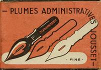 Antike Schreibfederschachtel, Jousset, Plume Administrative F