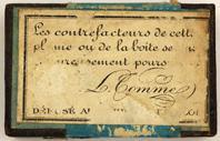Antike Bandzugfeder, L. Tomme, Le Point Ronde & Gotique, No. 4 Large