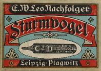 Antike Schachtel mit linksgeschrägten Kalligraphie Schreibfedern, E. W. Leo Nachfolger, No. 372, Sturmvogel D