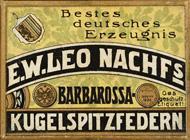 Antike Schreibfederschachtel, E. W. Leo Nachfolger, No. 526 EF, Barbarossa