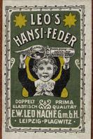 Antike Schreibfederschachtel, E. W. Leo Nachfolger, No. 9 EF + F, Hansi