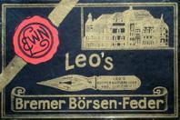 Schachtel mit Kalligraphie Spitzfedern, Leos Deutsche Bremer Börsenfeder F
