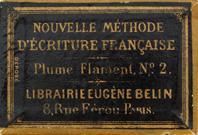 Antike Schreibfederschachtel, Unbekannter Hersteller, No. 1 und 2, Plume Flament