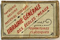 Antike Schreibfederschachtel, Librairie Générale des Écoles, Meaux