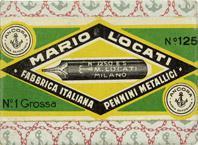 Schachtel mit Kalligraphie Spitzfedern, Mario Locati, No. 1250 Extra Superiore