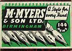 Antike Schreibfederschachtel, M. Myers & Son Ltd, No. 753 F