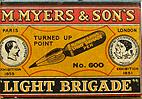Antike Schreibfeder-Schachtel, M. Myers & Son's LTD., No. 600, Light Brigade Pen