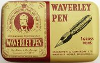 Antike Schreibfederdose, Mac Niven & Cameron, Waverley Pen