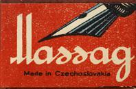 Schachtel mit Kalligraphie Bandzugfedern, Mathias Salcher & Söhne, No. 600-1