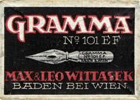 Antike Schreibfederschachtel, Max & Leo Wittasek, No. 101 EF, Gramma