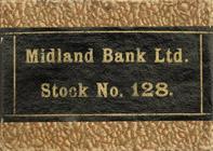 Antike Schreibfederschachtel, Midland Bank Ltd., Stook No. 128